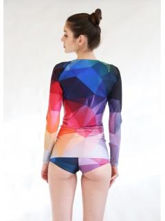 Crystal rainbow surf top