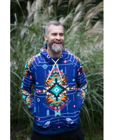 NAVAJO TRIBE WINTER BLUE - termo sweatshirts