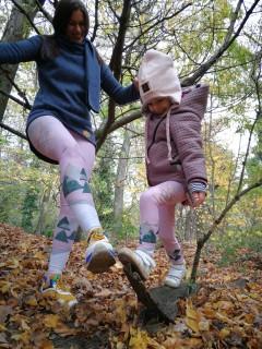 Pink old days - detské legíny