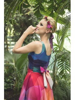 CRYSTAL RAINBOW - pinup dress