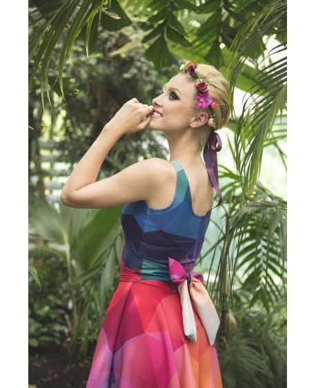 CRYSTAL RAINBOW - pinup dress