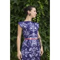 Folky blue - midi dress