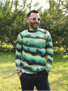 Green Bikes - termo tshirt with long sleeve
