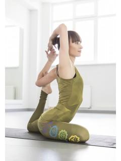 Charkas Yoga set kaki zelený