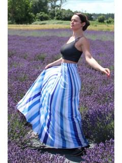 Blue stripes - maxi skirt