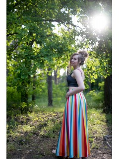 Funky stripes - maxi sukňa