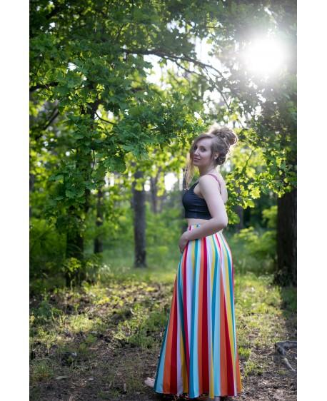 Funky stripes - maxi skirt