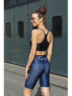 Sporty shorts - Fiore dela vita dark blue