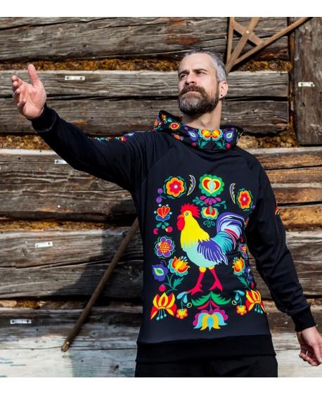 Kohútik Jarabý - black termo sweatshirts