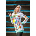 Kohútik Jarabý - white termo woman sweatshirts