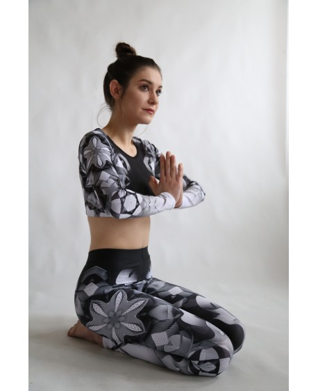 Lines Mandalas - black - yoga set